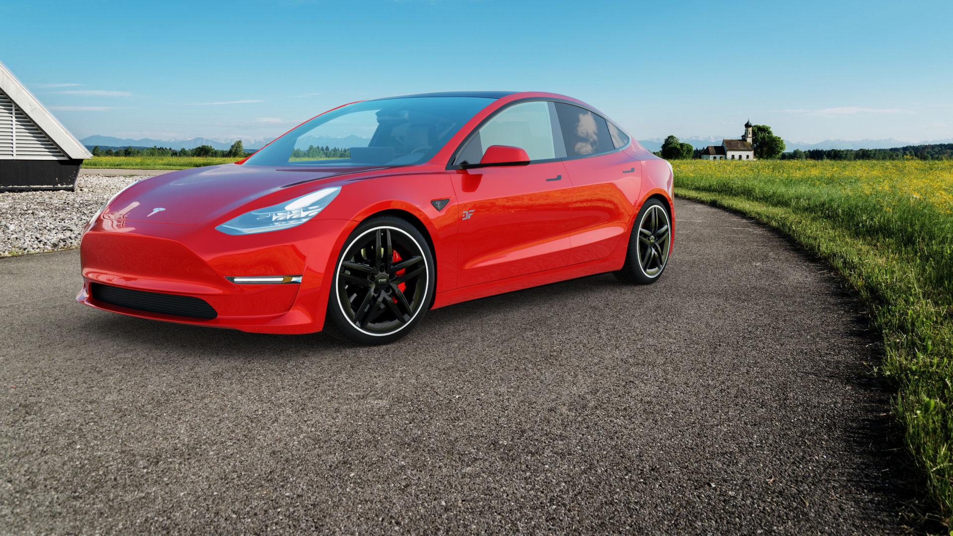 Tesla-Model-3_CMS-C29-Aero-Black-Rim-Polished_Frontansicht-1